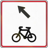 New Zealand road sign - Bicycles keep left Royalty Free Stock Images