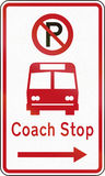 New Zealand road sign - Coach stop Stock Photography