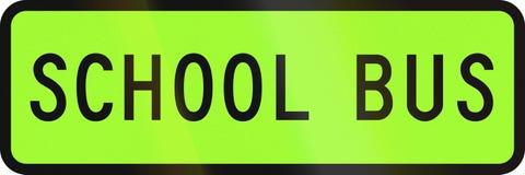 New Zealand road sign - Designated school bus.  Stock Photography