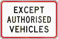 New Zealand road sign - Except buses Royalty Free Stock Photography