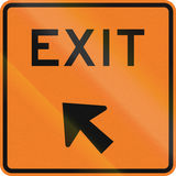 New Zealand road sign - Exit sign Stock Photography