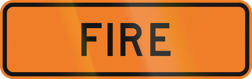New Zealand road sign - Fire ahead Royalty Free Stock Photography