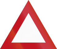 New Zealand road sign - Miscellaneous warning triangle Royalty Free Stock Image