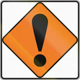 New Zealand road sign - Other dangers Stock Photo