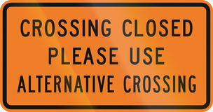 New Zealand road sign - Pedestrian crossing closed Royalty Free Stock Images