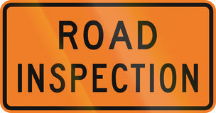 New Zealand road sign - Road inspection Stock Photography