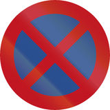 New Zealand road sign RP-1 - No stopping Stock Image