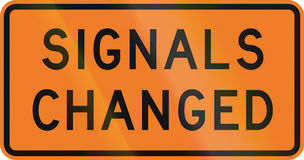 New Zealand road sign - Signals have changed Royalty Free Stock Photography