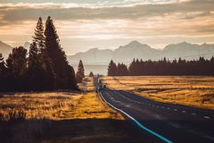 New Zealand Road Royalty Free Stock Photography