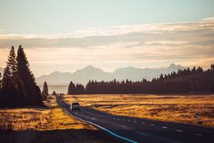 New Zealand Road Stock Photo