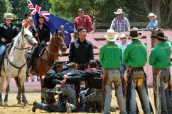 New Zealand Rodeo - Haka Stock Photo