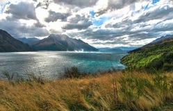 New Zealand's有风湖 免版税库存照片