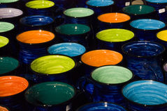 New Zealand's Colorful Pottery Royalty Free Stock Image
