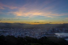 Wellington city. New Zealand`s second largest city is also the capital Royalty Free Stock Photography