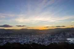 Wellington city. New Zealand`s second largest city is also the capital Stock Photography