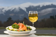 New Zealand salmon meal Royalty Free Stock Photography