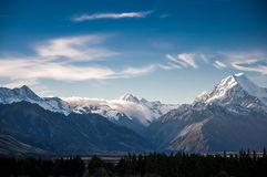 New Zealand scenic mountain landscape shot at Mount Cook Nationa Stock Image