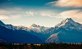 New Zealand scenic mountain landscape Stock Image