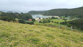 New Zealand Scenic Town. New Zealand Scenic site, hills and greenery Royalty Free Stock Photography