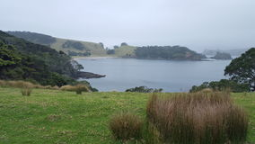 New Zealand Scenic Town. New Zealand Scenic site, hills and water Stock Photography