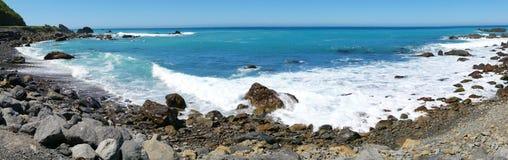 New Zealand Seascape Panorama Stock Images
