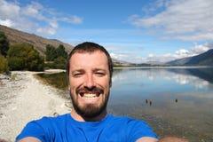 New Zealand selfie Stock Photo