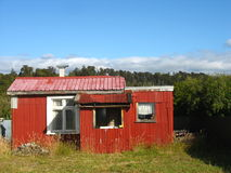 New Zealand shack. This is a small New Zealand cottage in the country, near Auckland Royalty Free Stock Image