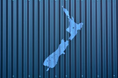 New Zealand Shape Stock Photo