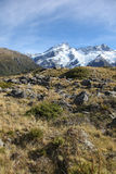 New Zealand Snow Capped Mountains Near Mount Cook Stock Photos