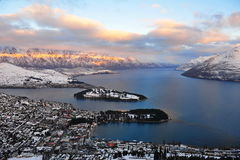 New Zealand snow mountains Stock Images