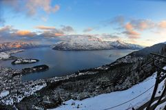New Zealand snow mountains Royalty Free Stock Photography