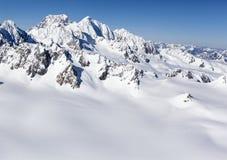 New Zealand snow mountains Stock Photo