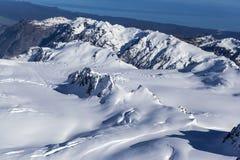 New Zealand snow mountains Royalty Free Stock Photo