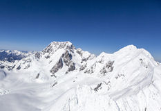 New Zealand snow mountains Stock Photography