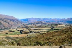 New Zealand South Island mountains and lakes. In February 2019 stock photography