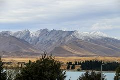New Zealand South Island mountains and lakes. In February 2019 royalty free stock photos