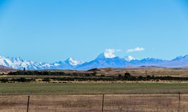 New Zealand South Island mountains and lakes. In Queenstown and Fiordland in February 2019 stock photos