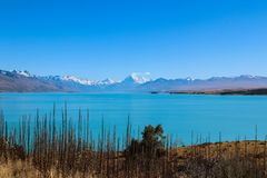 New Zealand South Island mountains and lakes. In Queenstown and Fiordland in February 2019 royalty free stock images