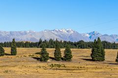 New Zealand South Island mountains and lakes. In Queenstown and Fiordland in February 2019 stock photography