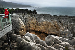 New Zealand South Island Pancake Rocks Stock Photo
