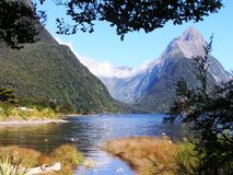 New Zealand Southern Alps Mountains stock photo