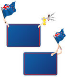 New Zealand Sport Message Frame with Flag. Vector - New Zealand Sport Message Frame with Flag. Set of Two royalty free illustration