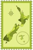 New Zealand on stamp Stock Photos