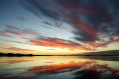 New Zealand Sunset Reflections stock images