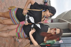 New Zealand Supporters. Clair and ruby show their support for New Zealand at HSBC Sevens at Nelson Mandela Staduim in Port Elizabeth.The occasion happen on the Stock Photos