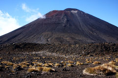 New Zealand. Taken on the North Island of New Zealand, a barren landscape on Tongariro trail Stock Photo