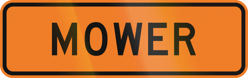 New Zealand temporary road sign - Mower Stock Images