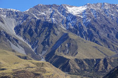 NEW ZEALAND 16TH APRIL 2014;  Top view South Island, New Zealand Royalty Free Stock Images