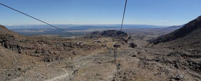 Aboard the Ski Lift atop Mount Ruapehu  royalty free stock images