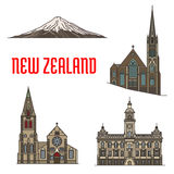 New Zealand tourist attractions and landmarks Stock Photos